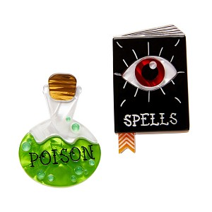 Witch's Brew Spellbook And Poison Pin Set By Erstwilder
