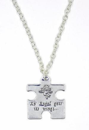 Autism puzzle piece necklace aloadofball Gallery