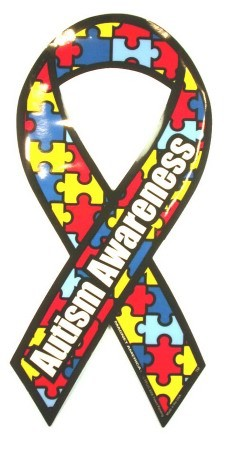 Autism Ribbon Magnet Mini