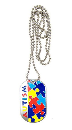 Autism Dog Tag Necklace