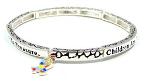 Children Are A Gift From God Stackable Autism Bracelet
