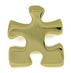 Gold Puzzle Piece Pin