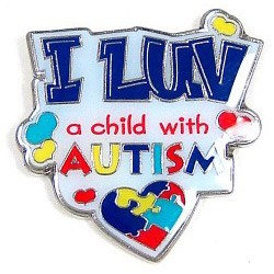 I Luv A Child With Autism Pin