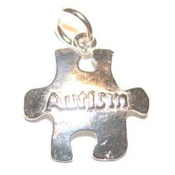 Sterling Silver Autism Puzzle Piece Charm
