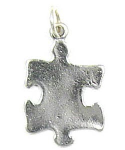 Small Sterling Silver Puzzle Piece Charm