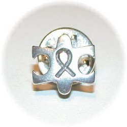 Sterling Silver Autism Awareness Tie Tack Or Lapel Pin