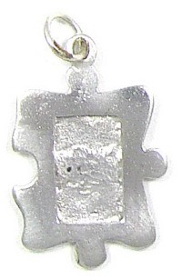 Sterling Silver Autism Puzzle Piece Photo Frame