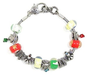 Guardian Angel Slider Bead Bracelet