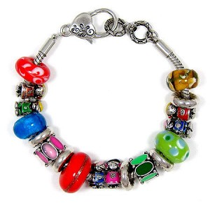 Boy And Girl Slider Bead Bracelet