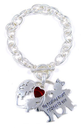 My Beating Heart Belongs To You Toggle Bracelet
