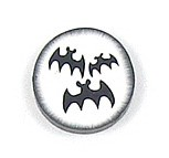 Three Bats Disc Bead
