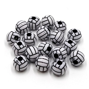 Acrylic Volleyball Bead