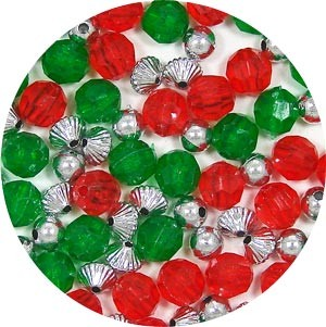 Colors Of Christmas Bead Mix