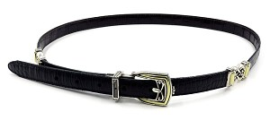 Brighton Black Dark Brown Reversible Leather Belt X Large