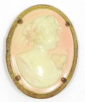 Vintage Early Plastic Celluloid Cameo