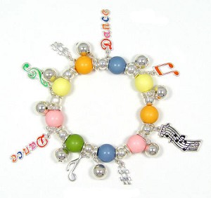 Music And Dance Charm Bracelet