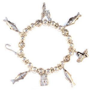 Gone Fishing Charm Bracelet