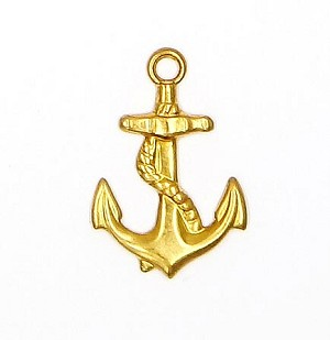Anchor Charm Brass