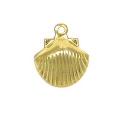 Seashell Charm Gold