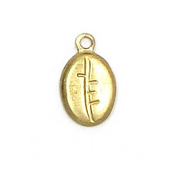 Coffee Bean Charm Brass