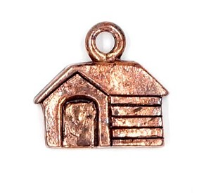 Dog House Charm Copper