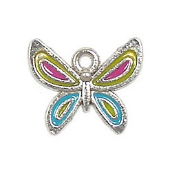 Multi Colored Butterfly 2 Charm