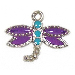 Purple Dragonfly 2 Charm