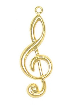 G Clef Charm Gold Plated