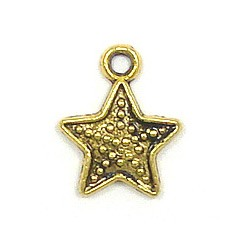 Granulated Star Charm Gold Plated