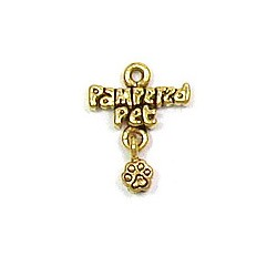 Pampered Pet Charm Gold