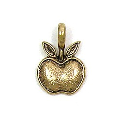 Gold Plated Apple Charm