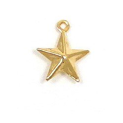 Double Sided Gold Star Charm