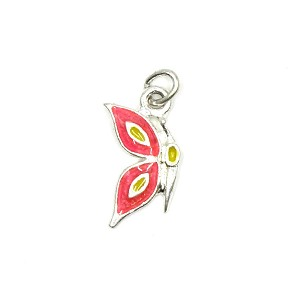 Hot Pink Butterfly Left Charm