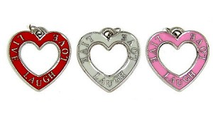 Live Love Laugh Heart Charms