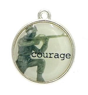 A Soldier's Courage Charm