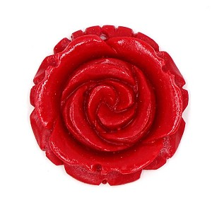 Large Resin Red Rose Pendant