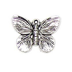 Silver Plated Butterfly Charm