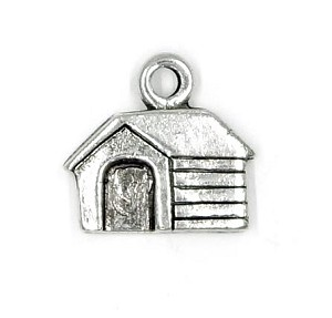 Dog House Charm Silver