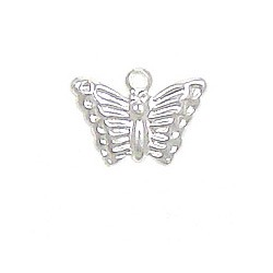 Mini Butterfly Charm Silver