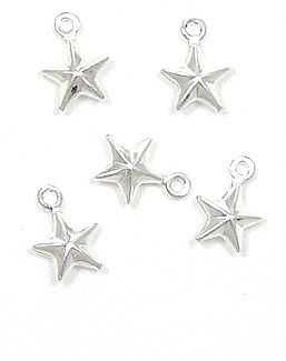 Mini Double Sided Silver Star Charm