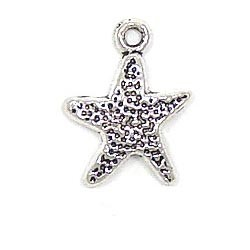 Starfish Charm Silver Plated