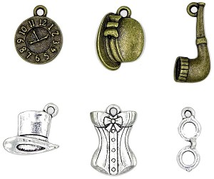 Steampunk Charm Set