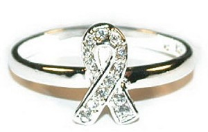 Clear CZ Sterling Ribbon Ring