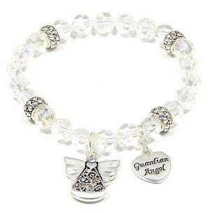 Clear Guardian Angel Awareness Bracelet