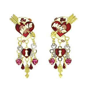 Be Mine Valentines Earrings By Lunch At The Ritz LATR
