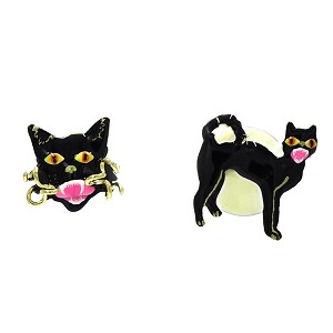 Black Kitty Earrings By Lunch At The Ritz LATR