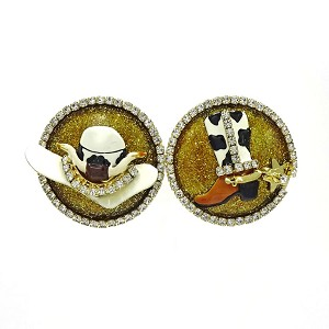 Rodeo Roll Earrings By Lunch At The Ritz LATR