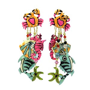 Seafood Earrings By Lunch At The Ritz LATR