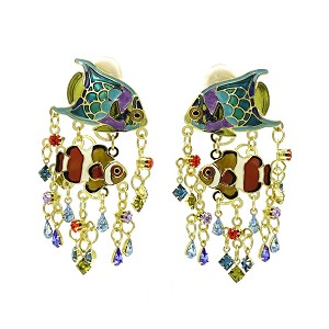 Tropical Reef Fish Earrings By Lunch At The Ritz LATR