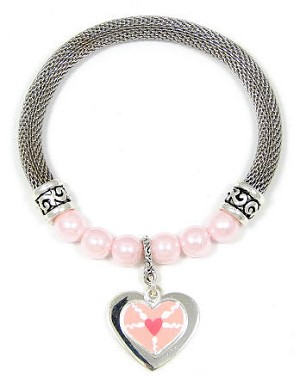 Limited Edition Mesh And Pink Pearls Fertility Bracelet
